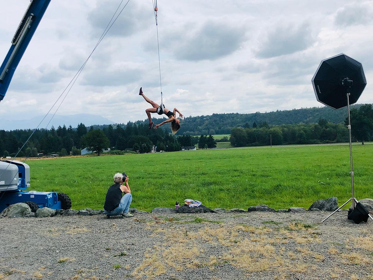 Behind the scenes: aerial shoot